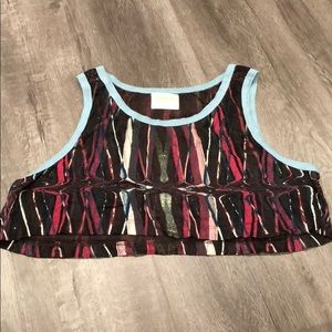 Wkshp Cropped Sleeveless Graphic Tank Top